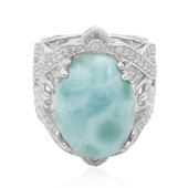 Zilveren ring met een larimar (Dallas Prince Designs)