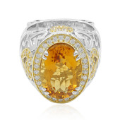 Zilveren ring met een Madeira citrien (Dallas Prince Designs)