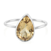 Zilveren ring met een champagne kwarts (MONOSONO COLLECTION)