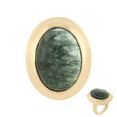 Zilveren ring met een serafiniet (MONOSONO COLLECTION)