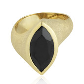 Zilveren ring met een zwarte spinel (MONOSONO COLLECTION)