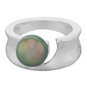 Zilveren ring met een Tahiti parel (MONOSONO COLLECTION)