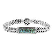 Zilveren armband met een Abalone schelp (Nan Collection)