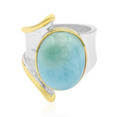 Zilveren ring met een larimar (MONOSONO COLLECTION)