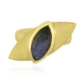 Zilveren ring met een labradoriet (MONOSONO COLLECTION)