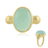 Zilveren ring met een Aqua Chalcedoon (MONOSONO COLLECTION)