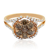 Gouden ring met Chocolate Diamonds (CIRARI)
