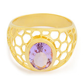 Zilveren ring met een lavendel amethist (MONOSONO COLLECTION)