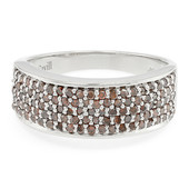 Zilveren ring met Fancy diamanten (Cavill)