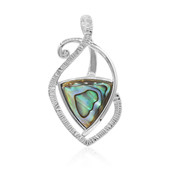 Zilveren hanger met een Abalone schelp (MONOSONO COLLECTION)