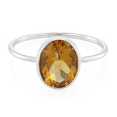 Zilveren ring met een cognac kwarts (MONOSONO COLLECTION)