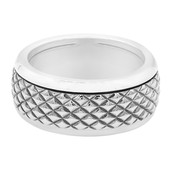 Zilveren ring met een diamant (MONOSONO COLLECTION)