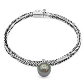 Zilveren armband met een Tahiti parel (Nan Collection)