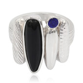Zilveren ring met een onyx (MONOSONO COLLECTION)