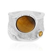 Zilveren ring met een tijgeroog (MONOSONO COLLECTION)