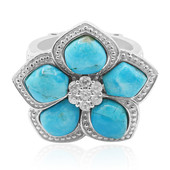 Zilveren ring met Blauwe Kingman Mohave Turkooisen (Dallas Prince Designs)