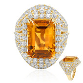 Gouden ring met een Madeira citrien (Dallas Prince Designs)