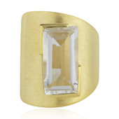 Zilveren ring met een witte kwarts (MONOSONO COLLECTION)