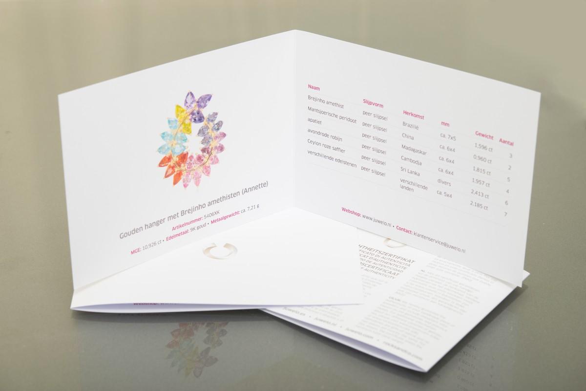 Juwelo echtheids-certificaat